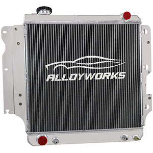 ALLOYWORKS Aluminum Radiator For 1987-2006 Jeep Wrangler TJ YJ 2.4L 2.5L 4.0L 4.2L L4 L6